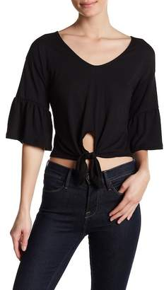 RESEARCH & DESIGN 3/4 Bell Sleeve Twist Front Tee