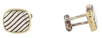 David Yurman Two-Tone Cable Cufflinks