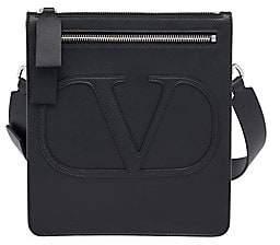 Saint Laurent Valentino Garavani Men's Mini Logo Leather Crossbody Bag
