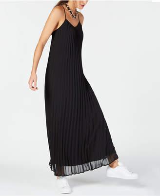 Bar III Pleated Maxi Dress