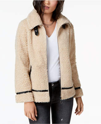 Madden-Girl Juniors' Faux-Fur Teddy Jacket