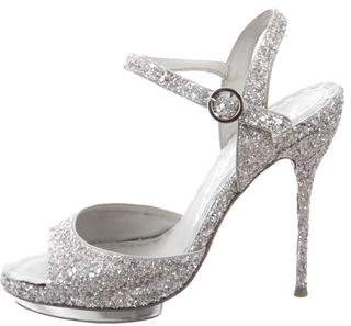 Alice + Olivia Glitter Platform Sandals