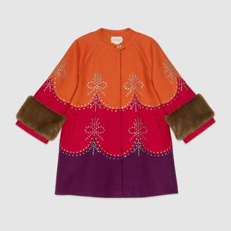 Gucci Children's wool coat with crystals