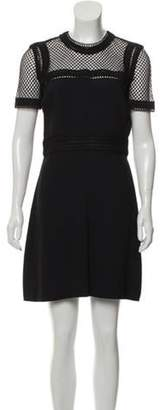 Elie Saab Mini A-Line Dress Black Mini A-Line Dress