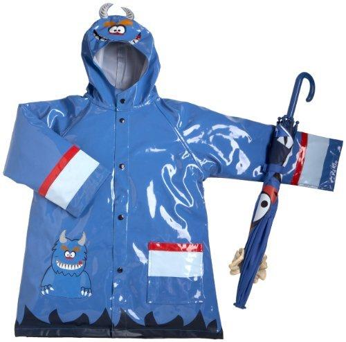 Western Chief Toddler/Little Kid Monster Rain Jacket/Umbrella Set