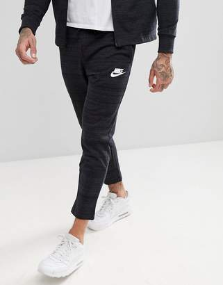 Nike Advanced Knit Skinny Joggers In Black 885923-010