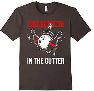 Funny Bowling Shirt For Women Mind In The Gutter