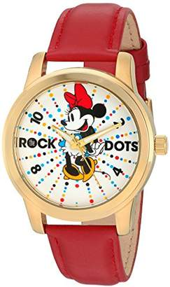 Disney Minnie Mouse Women's Gold Alloy Watch
