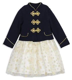 Pippa & Julie Girls' Majorette Military Jacket & Star Tutu Dress Set - Baby