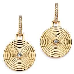 Kiki McDonough 18K Yellow Gold Fantasy Blue Topaz & Diamond Large Drop Earrings