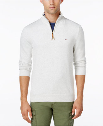 Tommy Hilfiger Signature Solid Quarter-Zip Sweater $79.50 thestylecure.com
