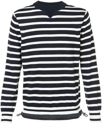 Sacai striped sweatshirt