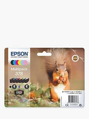 Epson Squirrel T3788 Inkjet Printer Cartridge Multipack, Pack of 6