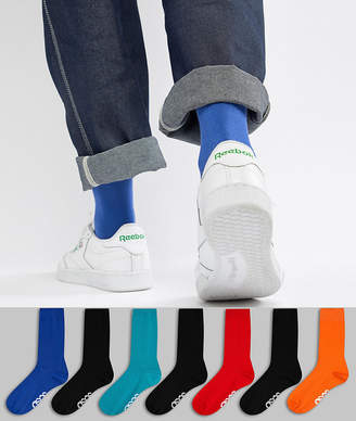 Retro Sport ASOS DESIGN Socks In Colors With Branded Soles 7 Pack Save