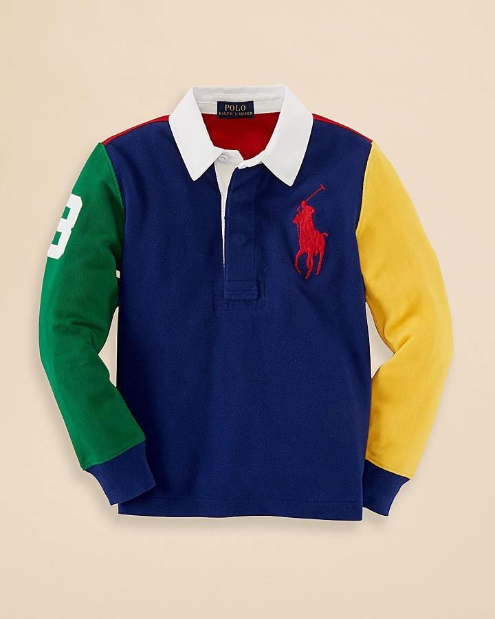 Ralph Lauren Boys' Color Block Rugby Shirt - Sizes 2-7