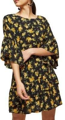 Miss Selfridge Blossom Tie-Waist Floral Dress