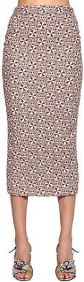 N°21 Brocade Pencil Midi Skirt