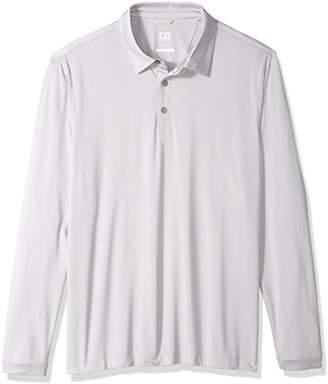 Cutter & Buck Men's Moisture Wicking UPF 50+ Belmont Long Sleeve Polo Shirt