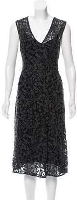 Tracy Reese Embroidered Midi Dress