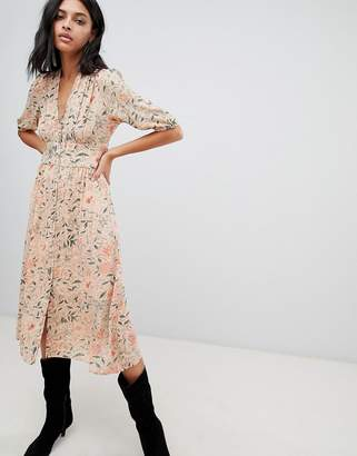 BA&SH Printed Tea Midi Dress