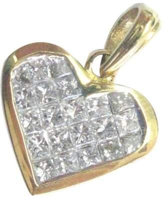 18K White Gold & Invisible Diamond Heart Pendant