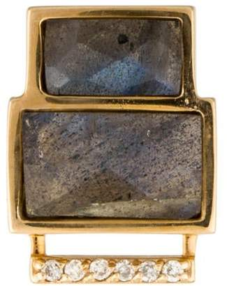 Paige Novick Phyne by 14K Labradorite & Diamond Building Blocks Stud Earring