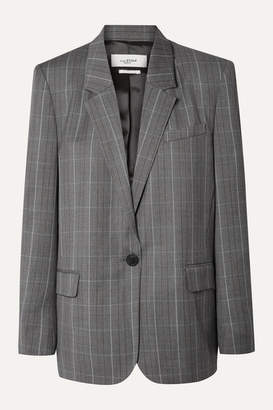 Etoile Isabel Marant Verix Prince Of Wales Checked Wool Blazer - Gray