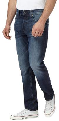 G Star G-Star - Blue Mid Wash '3301' Tapered Jeans