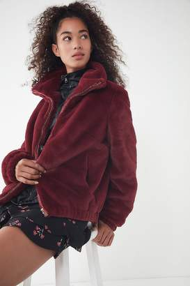 Urban Outfitters Faux Fur Zip-Up Jacket