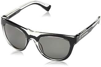 Diesel Men's FF0001 Wayfarer Sunglasses, 01N Black/Shiny Crystal