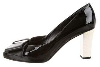 Lanvin Patent Leather Round-Toe Pumps w/ Tags
