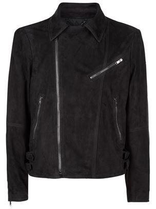 Gieves & Hawkes Suede Biker Jacket