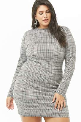 d16bd9b3389 at Forever 21 · Forever 21 Plus Size Glen Plaid Mini Dress