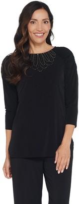 Susan Graver Artisan Liquid Knit Raglan Sleeve Top