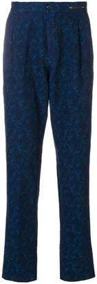 Pt01 patterned straight leg trousers