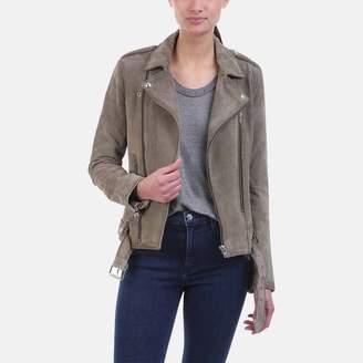Iro . Jeans Iro Jeans Ferea Bleached Grey Leather Biker Jacket