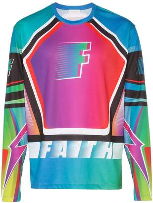 Faith Connexion race print sweatshirt