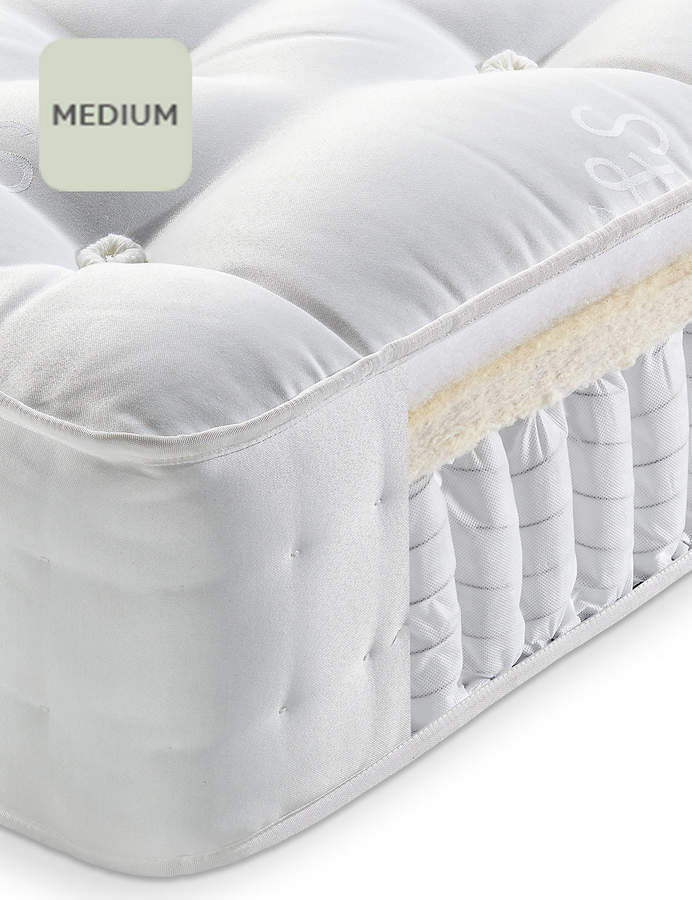 Marks And Spencer Natural 1250 Mattress Medium Support Kids