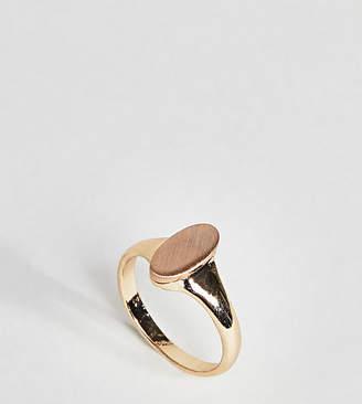 Asos Brushed Metal Oval Pinky Ring