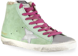 Golden Goose Superstar High-Top Colorblock Suede Sneakers