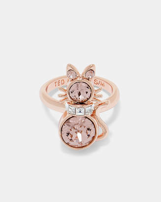 Ted Baker SAHELI Swarovski crystal cat ring