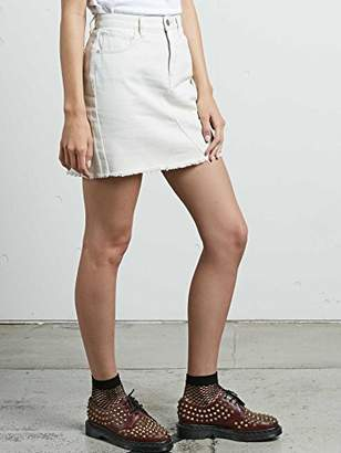 Volcom Junior's Stoned High Rise Raw Hem Mini Skirt
