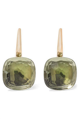 Pomellato Nudo Classic 18-karat Rose Gold Prasiolite Earrings