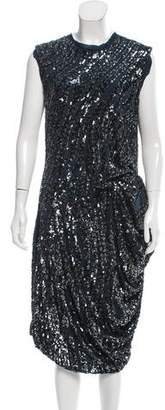Lanvin Draped Sequin Dress