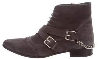Tabitha Simmons Suede Lace-Up Ankle Boots
