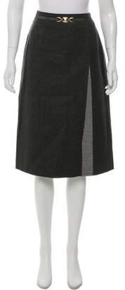 Celine Wool A-Line Skirt