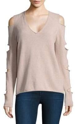 360 Cashmere Skull Cashmere Tyrone Slash-Sleeve Sweater