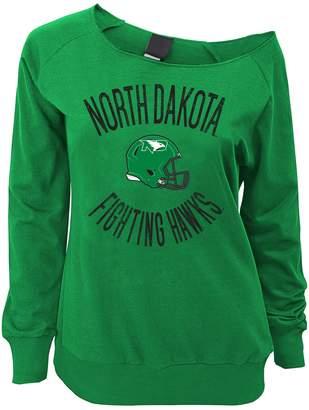 Juniors' North Dakota Fighting Hawks Flashdance Slouch Crewneck