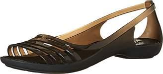 crocs Women's Isabella Huarache Flat Jelly Sandal $20 thestylecure.com