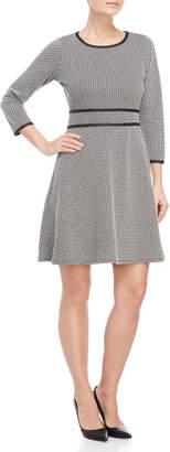 Max Studio Jacquard Knit Long Sleeve Dress